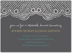 Wedding Invitations, Bridal Shower Invitations & Announcements by Wedding Paper Divas Rehearsal Dinner Invitations, Wedding Rehearsal, Rehearsal Dinners, Doily Invitations, Bridal Shower Invitations, Invites, Wedding Invatations, Wedding Paper Divas, Burlap Lace