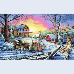 Pleasures of Winter - Dimensions counted cross stitch kit
