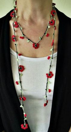 Poppy necklace for remembering