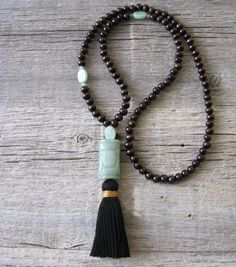 Green Aventurine Mala, Healing Stone Mala, Lucky Talisman by Be Well Gifts