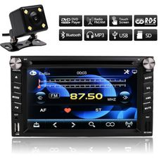 Double DIN Car Stereo CD DVD Player SD USB Bluetooth MIC FM MP3 TV with Camera in Vehicle Parts & Accessories, Vehicle Electronics & GPS, Car Video | eBay