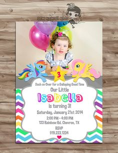 He encontrado este interesante anuncio de Etsy en https://www.etsy.com/es/listing/175888462/my-little-pony-photo-birthday-invitation