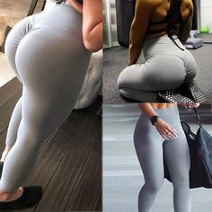 Cheap Price Gym leggings Sport Women Fitness Yoga pants High Waist Workout Leggins Scrunch Butt Lift sports wear Hips up trousers mujer Women's Sports Leggings, Gym Leggings, Workout Leggings, Running Pants, Yoga Pants, Lässigen Jeans, Waist Workout, Push Workout, Yoga Bra