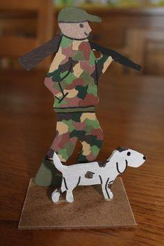Cr che de no l en bois recycl jouet waldorf jouet en for Decoration maison chasse