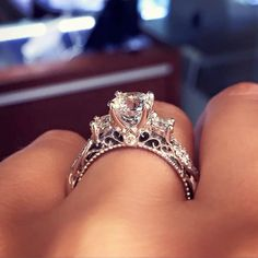 See the impressive engagement ring that has over 63,000 pins on Pinterest.