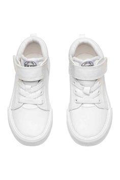 Cotton twill trainers - White - Kids | H&M