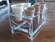 Engraved Acrylic 6 Cone Ice Cream Cone Holder by Creative Laser Art, http://www.amazon.com/dp/B00COWD3A6/ref=cm_sw_r_pi_dp_8-2Mrb14FM4QN