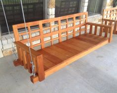 Porch Swing Bed Chaise Lounge Chair Day bed by IndustrialEnvy