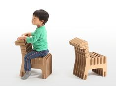 Japanese Company Creates Cardboard Furniture For Kids - DesignTAXI.com