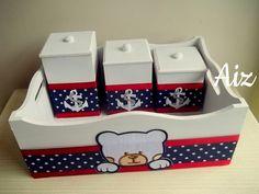 kit para bebe ursinho rei de mdf com vidro - Pesquisa Google Kit Bebe, Painting On Wood, Toy Chest, Baby Items, Storage Chest, Baby Shower, Diy, Holiday Decor, Crafts