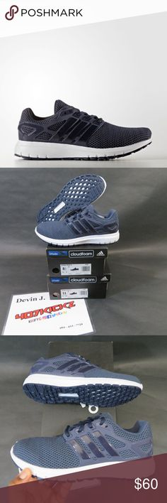 best service 69e2a 72821 ADIDAS SHOES NEW ADIDAS ENERGY CLOUD M CG3006 Navy White Cloudfoam  Performance Running Shoes   MENS sizes 8.5 and 11   DS Brand New   Original  Box adidas ...