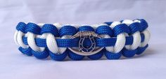 SALE Indianapolis Colts Paracord Bracelet by NaNasCraftCreations, $16.00
