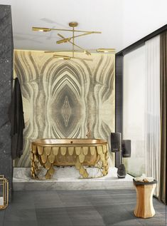Metalics one of Trends M&O 2017. To enhance your bath decor ideas, BRABBU collaborated with Maison Valentina,with a corner at M&O Paris inspired in top designers and their interior design ideas.  https://www.brabbu.com/en/inspiration-and-ideas/