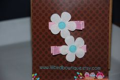 PAIR of Tiffany inspired Daisy hair clips on a by lilibirdbowtique, $5.99