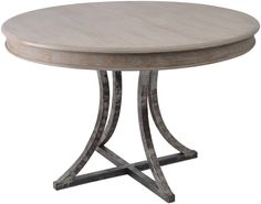 Marseille Wood Metal Round Dining Table