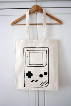 "Jutebeutel ""Gameboy"" // Tote bag ""Gameboy"" by luloveshandmade via DaWanda.com"