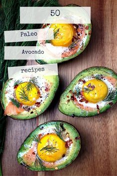 Salmon, avocado and egg- there is something there. Smoked Salmon Egg Stuffed Avocado // fancy schmancy without the fuss, high protein, low carb via Grok Grub Avocado Recipes, Paleo Recipes, Real Food Recipes, Cooking Recipes, Yummy Food, Egg Recipes, Delicious Recipes, Yummy Lunch, Recipies