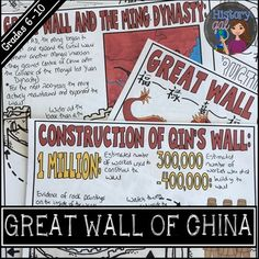 Great Wall of China Graphic Notes - Use this 25 page resource with your 6th, 7th, 8th, 9th, or 10th grade classroom or home school students. You'll get directions, doodle notes, and a PowerPoint to cover the Great Wall of China. This is the perfect social studies history lesson when covering World History or Asian Studies. {sixth, seventh, eighth, ninth, tenth graders, middle school, high school, Qin Dynasty, Ming Dynasty}
