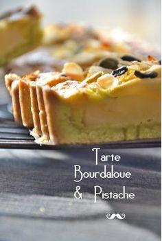 tarte crème d'amande poire, pâte pistache (très très bon mais mieux avec des grosses tranches de poire)