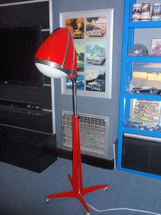 Old hair dryer I converted to a floor lamp