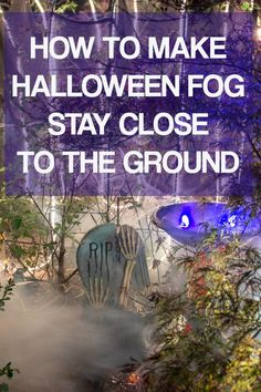 Learn how to make low lying fog with an inexpensive fog machine and a few cheap construction supplies. This is one of the easiest fog machine ideas for making your Halloween yard haunt or party look spooky. Halloween Graveyard, Halloween Scene, Halloween Haunted Houses, Outdoor Halloween, Spooky Halloween, Halloween Ideas, Halloween Party, Halloween Stuff, Halloween Crafts
