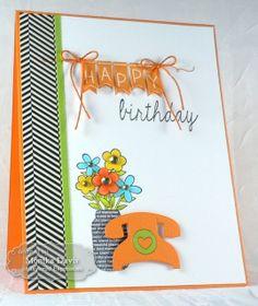June SOTM Happy Birthday Card by Monika Davis #Cardmaking, #Birthday, #StampoftheMonth, http://tayloredexpressions.com/kits.html