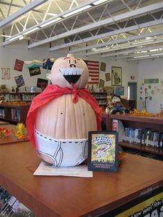 literary pumpkin decorating contest -- love!