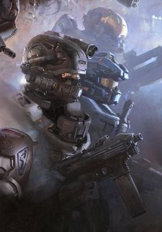 Artwork from the Halo video game saga Halo 5, Halo Game, Cyberpunk, Cod Zombies, Video Game Art, Video Games, Odst Halo, Gundam, Halo Armor