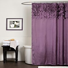 Lush Decor Lillian Purple Shower Curtain | Overstock.com Shopping - Great Deals on Lush Decor Shower Curtains