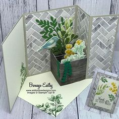 Card Making Tutorials, Card Making Techniques, Making Cards, Fancy Fold Cards, Folded Cards, Scrapbooking Origami, Pop Up Box Cards, Shaped Cards, Stampin Up Cards