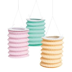 These would be perfect to string up outside, with maybe one or two for inside. And you really can't beat that price! Vintage Collection Paper Lantern Garland - OrientalTrading.com