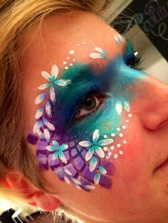 Face paint - Famous Last Words Face Painting Images, Face Painting Flowers, Face Painting Designs, Body Painting, Mascarade Mask, Ethereal Makeup, Henna Paint, Fantasy Make Up, Face Paint Makeup