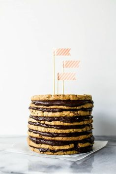 Chocolate Chip Cookie Cake, Salted Chocolate, Chocolate Recipes, Chocolate Desserts, Rainbow Cookie Cake, Italian Rainbow Cookies, Cupcakes, Cupcake Cakes, Cookie Cakes