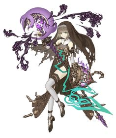 View an image titled 'Gretel, Lustful Scorpion Cleric Job Art' in our SINoALICE art gallery featuring official character designs, concept art, and promo pictures. Female Character Design, Character Design References, Character Concept, Character Art, Concept Art, Art Anime, Anime Art Girl, Alice, Fantasy Characters
