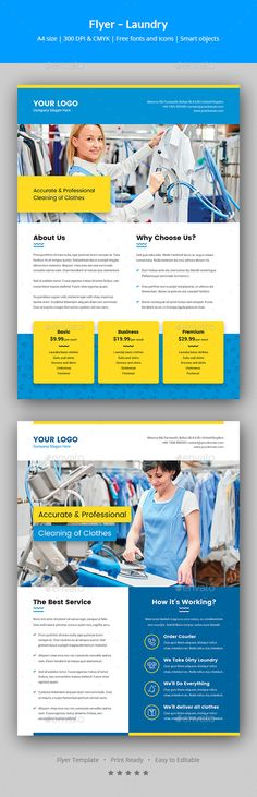 Laundry Service Flyer Template   Laundry Service Flyer