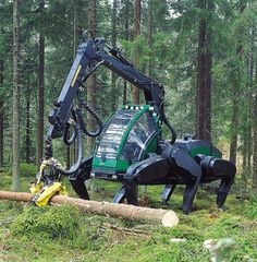 Six-legged Logging Machine Prototype it looks like the carriage from beauty and the beast!
