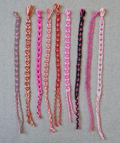 Easiest instructions for heart pattern friendship bracelet bazaar-ideas