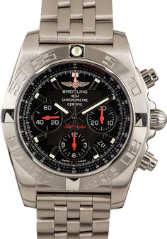 Used Watches, Pre Owned Watches, Watches For Men, Breitling Chronomat, Breitling Watches, Used Rolex, Pre Owned Rolex, Mens Watches Leather, Stainless Steel Case