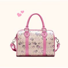 Street Chic Retro Pony Printed Boston PU Shoulder Bag for Women - Bags - Women's Style Free Shipping