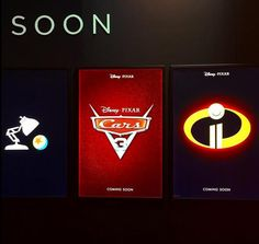 Teaser posters galore! #D23Expo #Pixar #Incredibles2 #Cars3