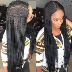 Lace Frontal Cornrow Wig, Neatly and Tightly Done For Long Term Use Hand Made Corn Row Wigs Lace Frontal Material Guaranteed to Last For 2 Years Color Shown: Length S Box Braids Hairstyles, Lemonade Braids Hairstyles, Braids Wig, African Hairstyles, Hairstyles 2018, Corn Row Hairstyles, Teenage Hairstyles, Bridal Hairstyles, Corn Row Braids