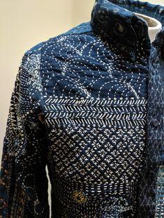 Shashiko Embroidery, Boro Stitching, Art Du Fil, Visible Mending, Shibori Tie Dye, Fall Capsule Wardrobe, Art Textile, Japanese Textiles, Japanese Embroidery