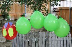 Rupsje Nooitgenoeg ballonnen! Feestelijk voor een kleine jarige.