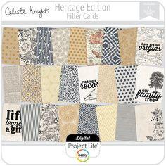 from Celeste Knight at #digitalprojec life #Heritage Edition 3x4 Filler Cards