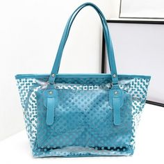 Two Bags Jelly Color Bag Dotted Sweet Girl's Handbag