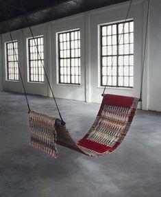 Turn your rug into a hammock ...Mari Isopahkala | rug hammock #design #interiors