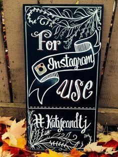 Instagram wedding sign  by GenuinelyGinger on Etsy