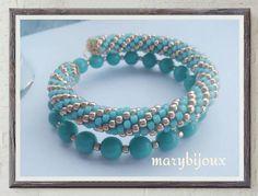 bracciale bead crochet by mariibijoux on Etsy