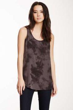 Printed Silk Tank Tunic