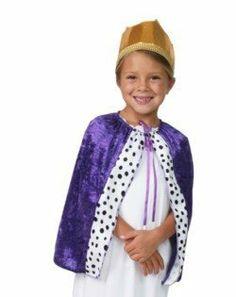 Child Purple Dressup Costume Princess King Cape Play Making Believe. $7.99